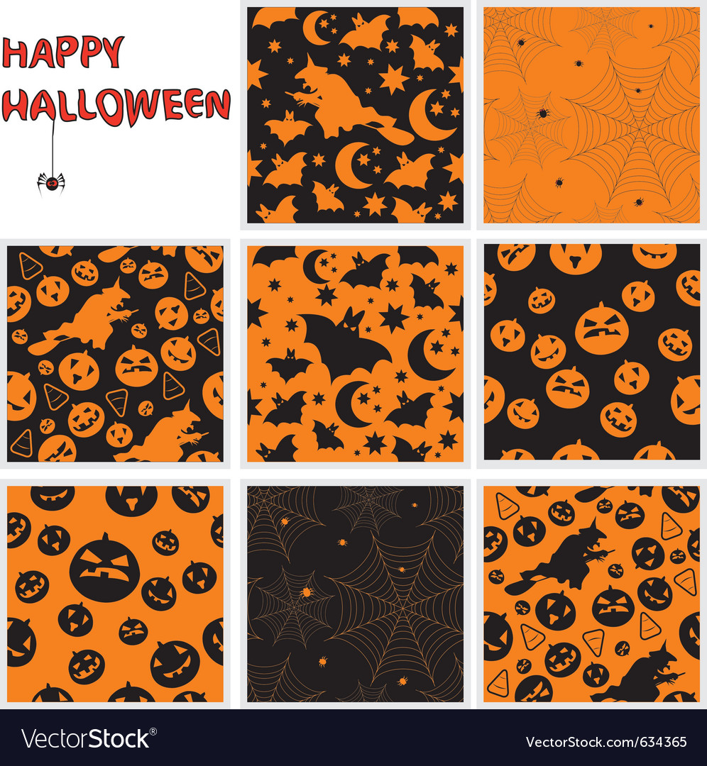 Halloween seamless patterns vector | Price: 1 Credit (USD $1)