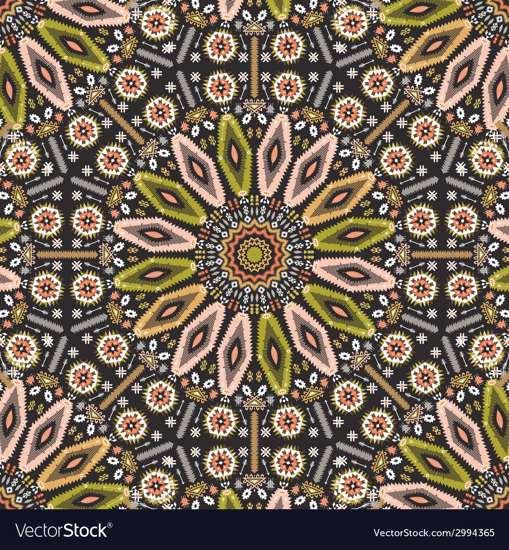 Ornamental round geometric native style pattern vector | Price: 1 Credit (USD $1)
