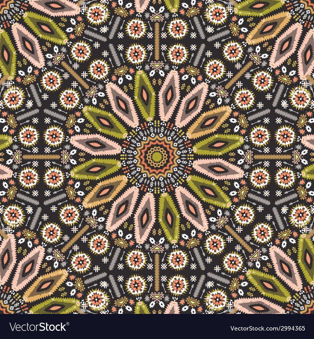 Ornamental round geometric native style pattern vector | Price: 1 Credit (USD $1)