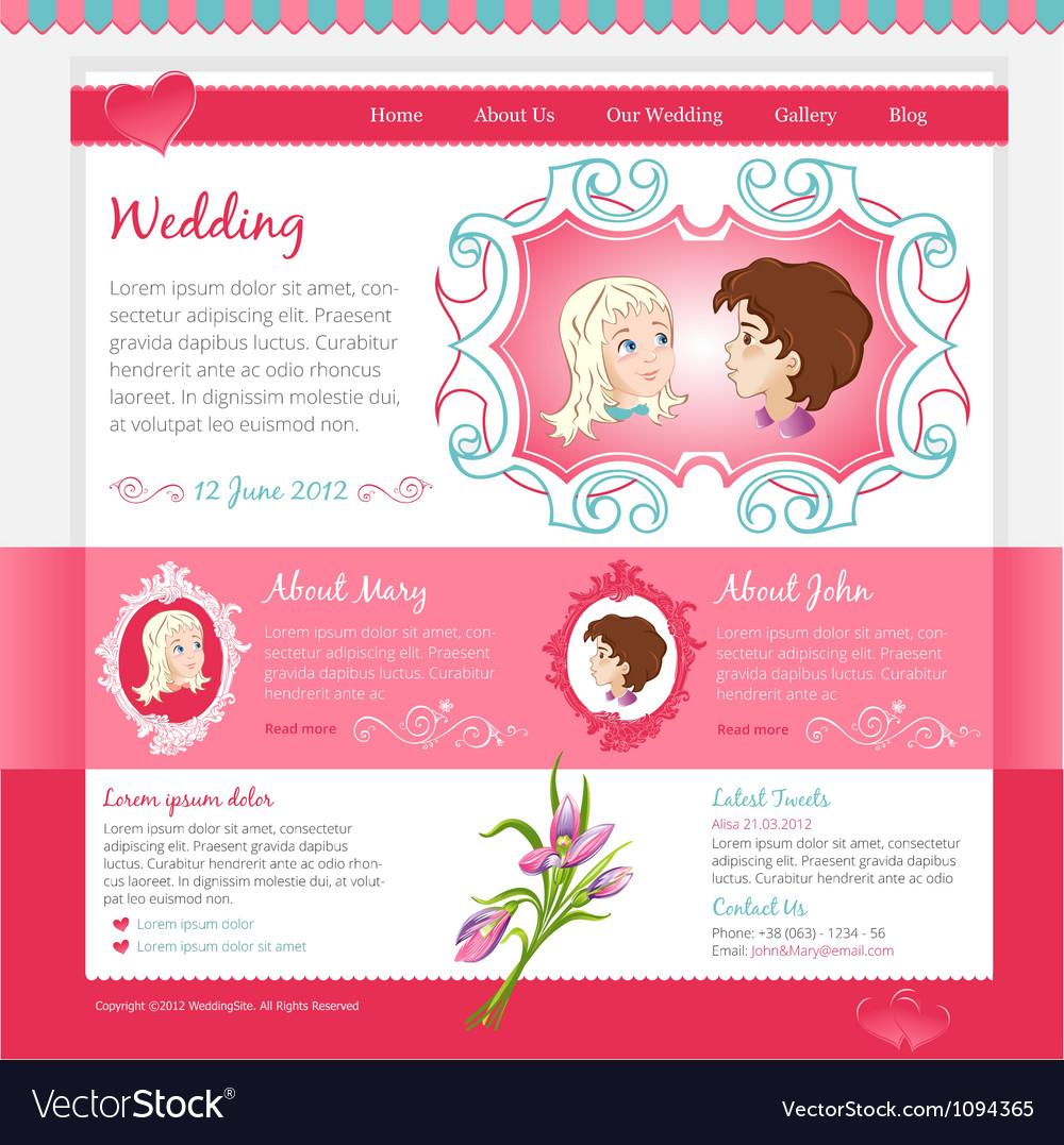 Pink wedding template vector   Price: 3 Credit (USD $3)