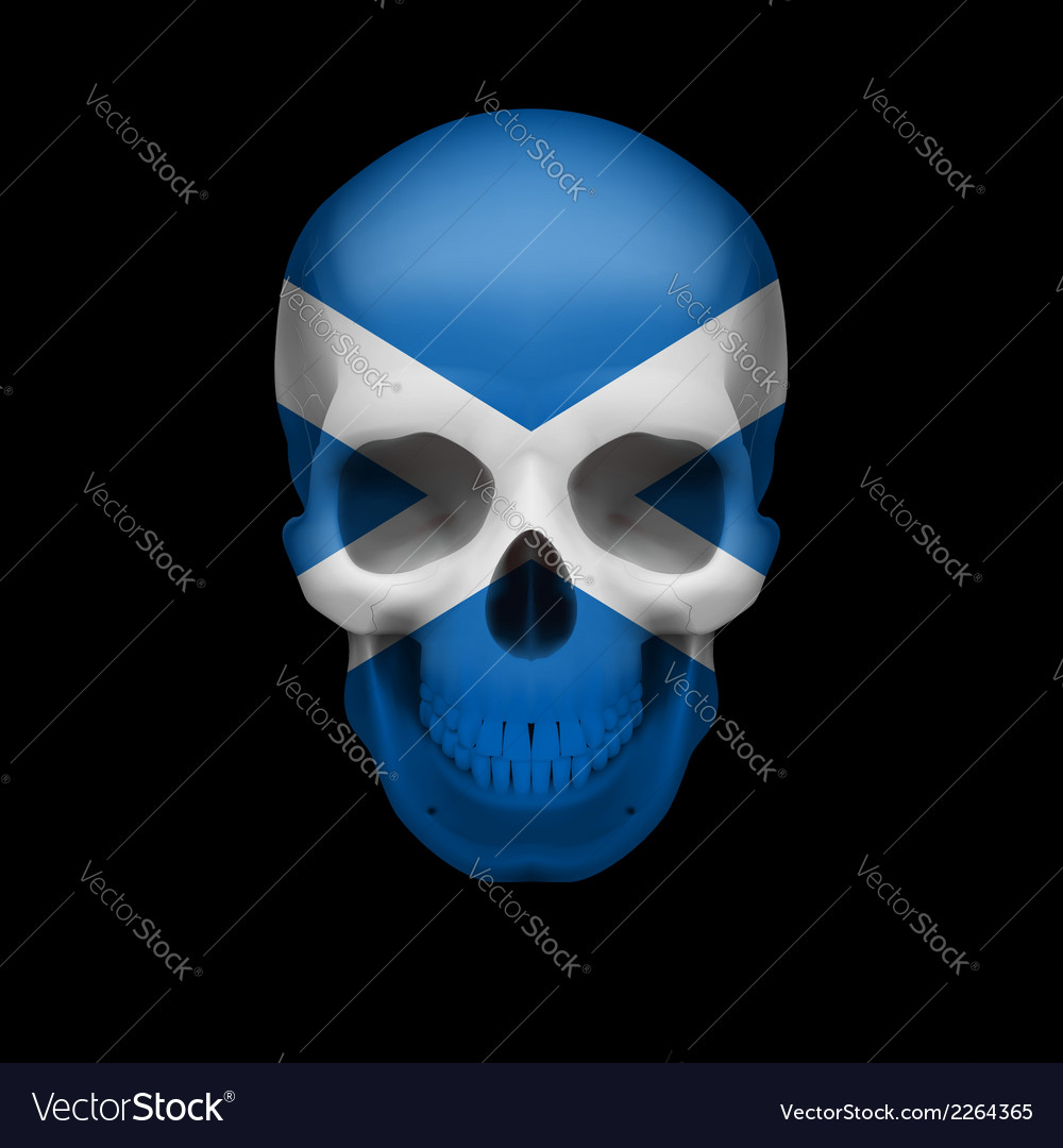 Scottish flag skull vector | Price: 1 Credit (USD $1)