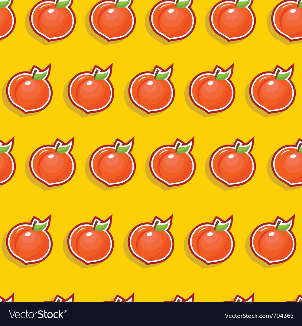 Seamless peach pattern vector | Price: 1 Credit (USD $1)