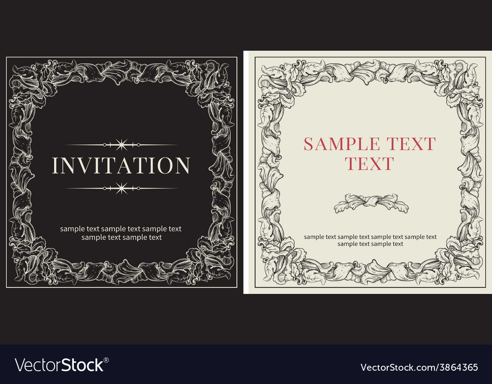 Set of templates for invitation vector | Price: 1 Credit (USD $1)