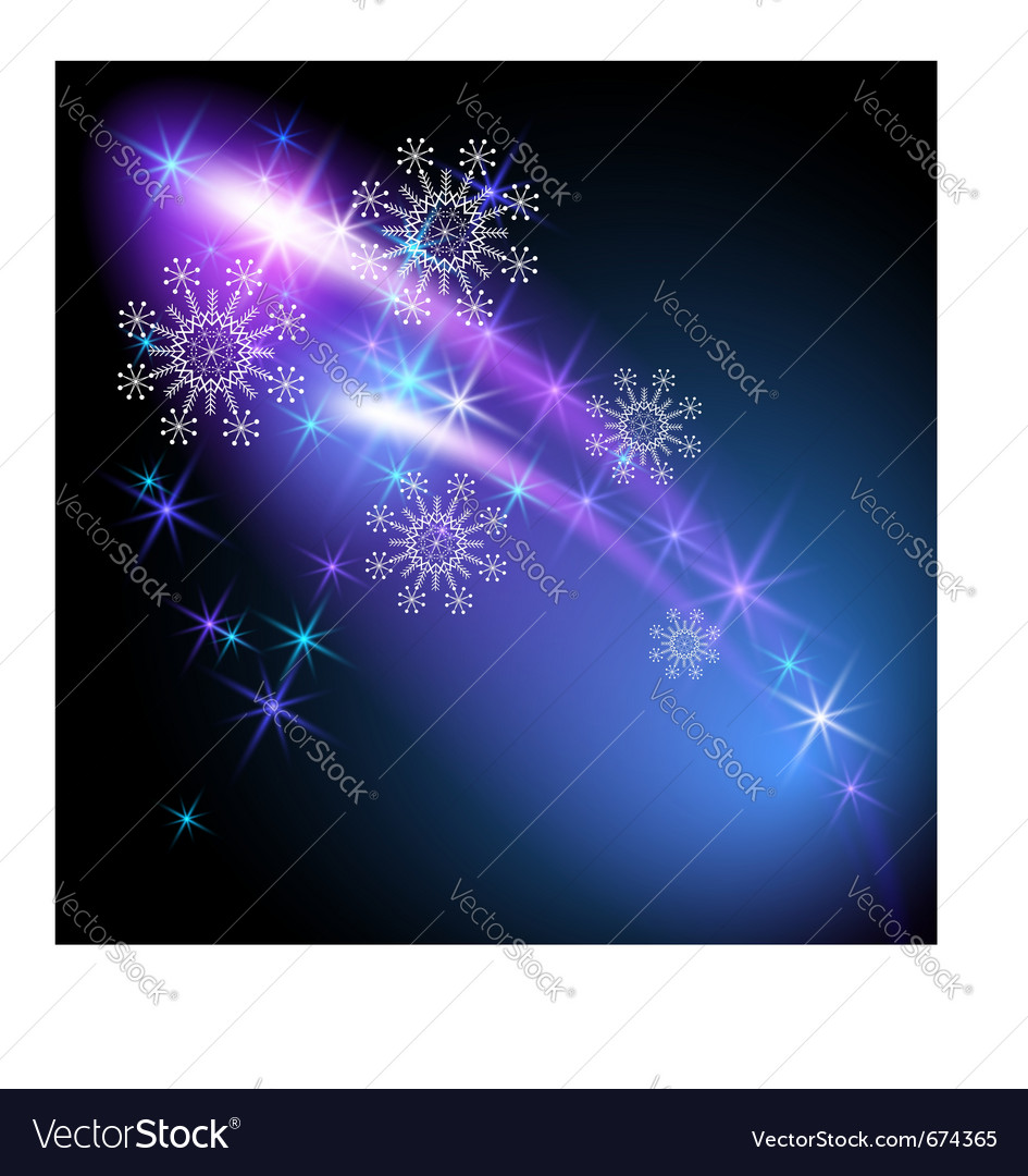 Snowflakes and salute vector | Price: 1 Credit (USD $1)