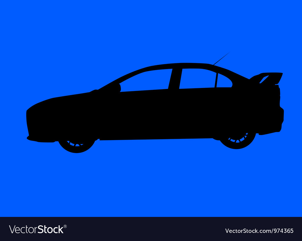 Sport sedan silhouette vector | Price: 1 Credit (USD $1)