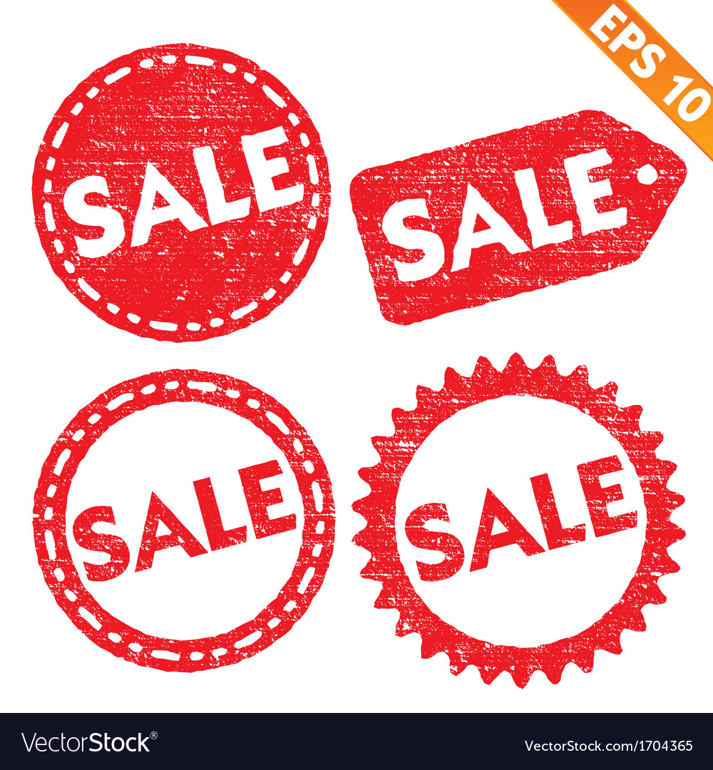 Stamp stitcker sale tag collection - - eps1 vector | Price: 1 Credit (USD $1)