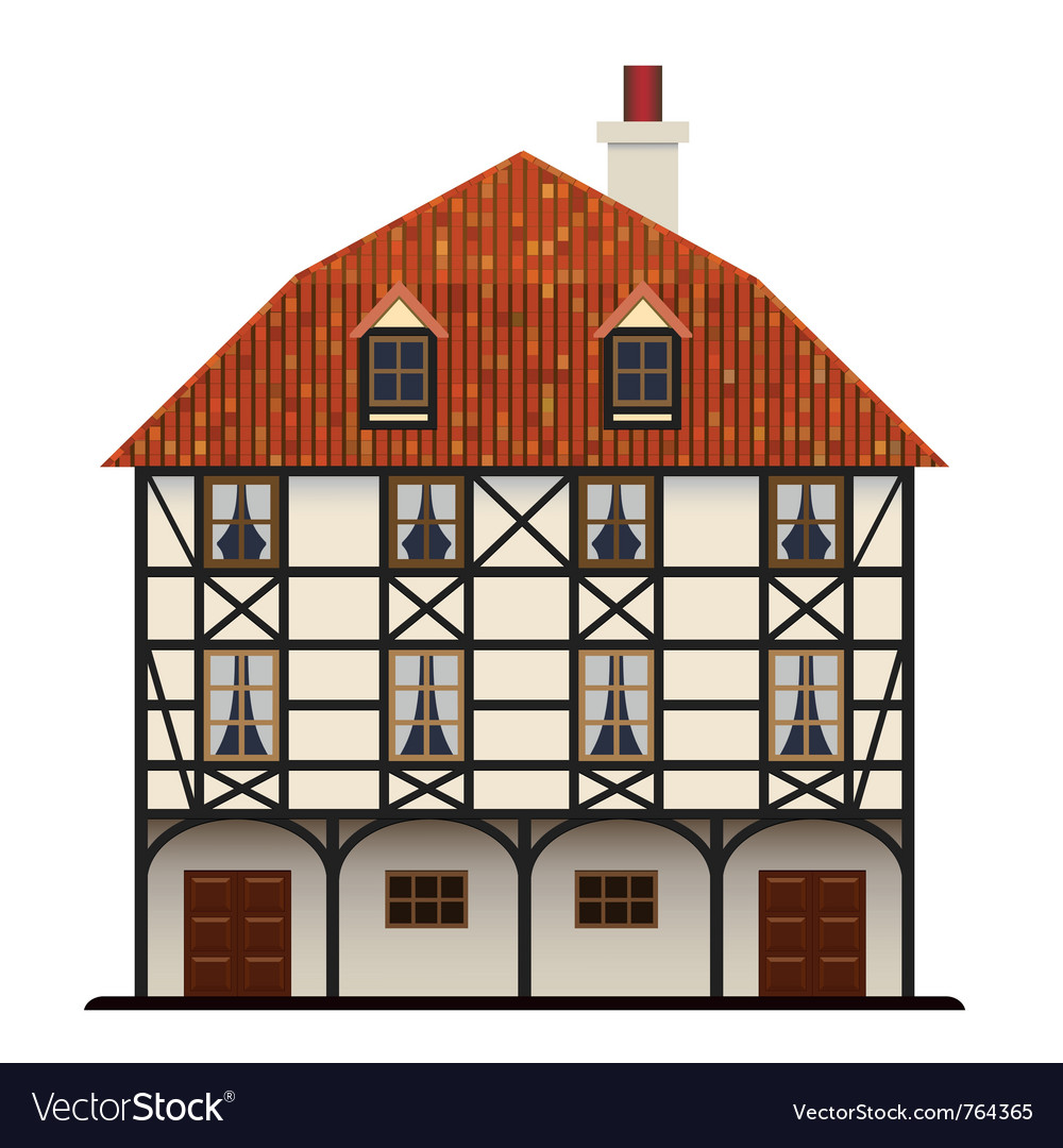 Traditional cottage vector | Price: 3 Credit (USD $3)