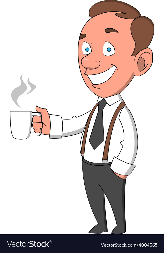 Worker with mug vector | Price: 1 Credit (USD $1)