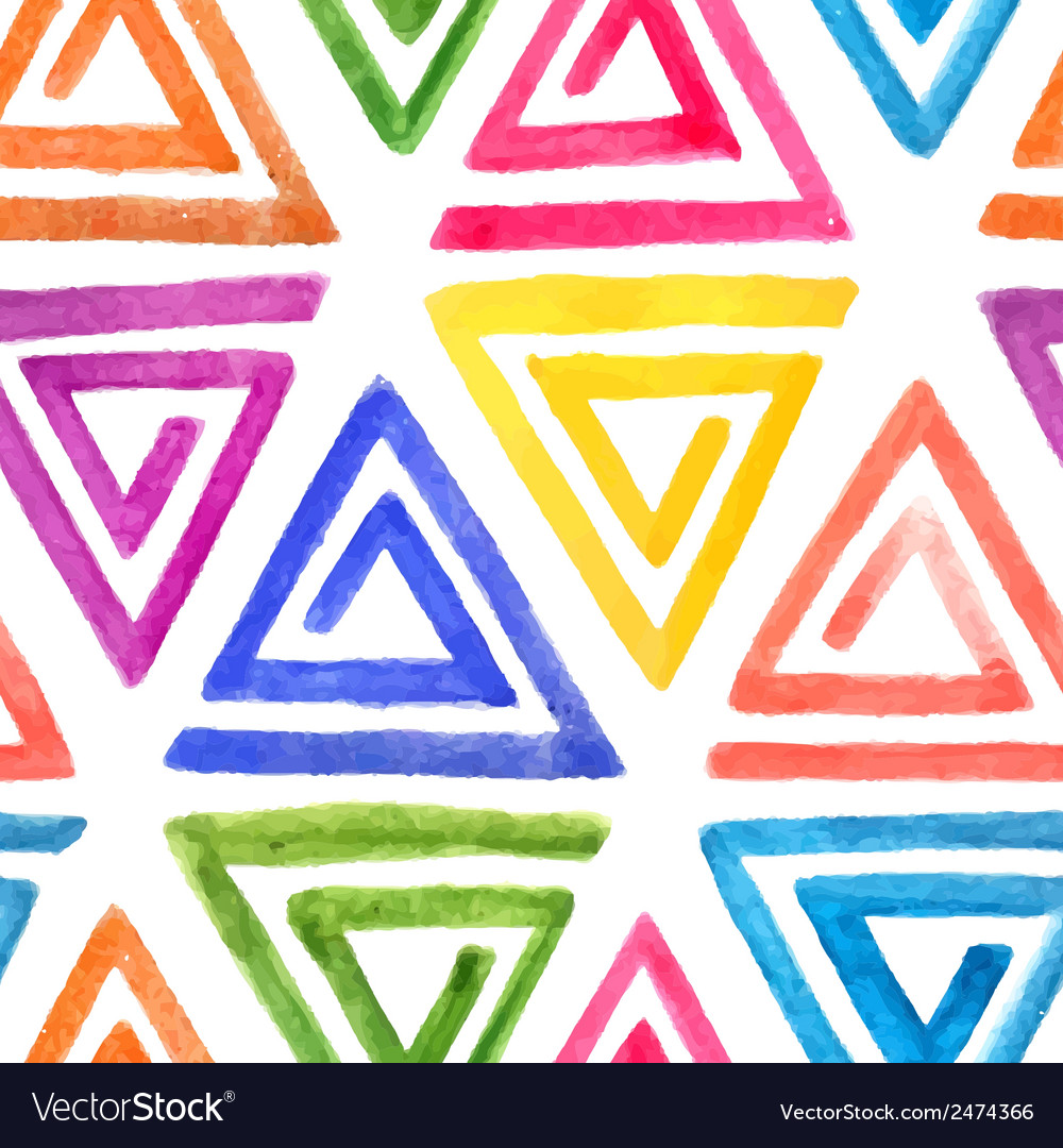 Abstract seamless watercolor pattern vector | Price: 1 Credit (USD $1)