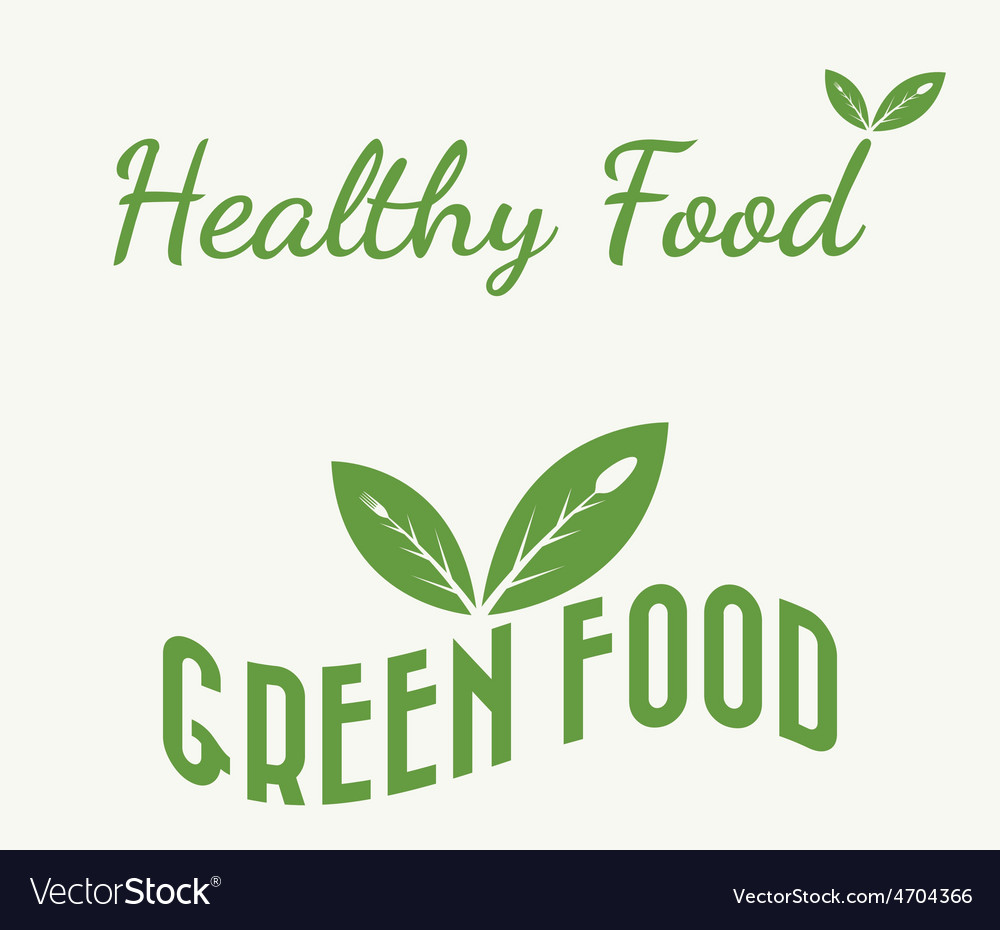 Green and healthy food vector | Price: 1 Credit (USD $1)