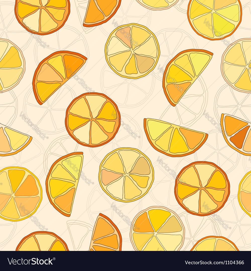 Oranges seamless pattern vector | Price: 1 Credit (USD $1)