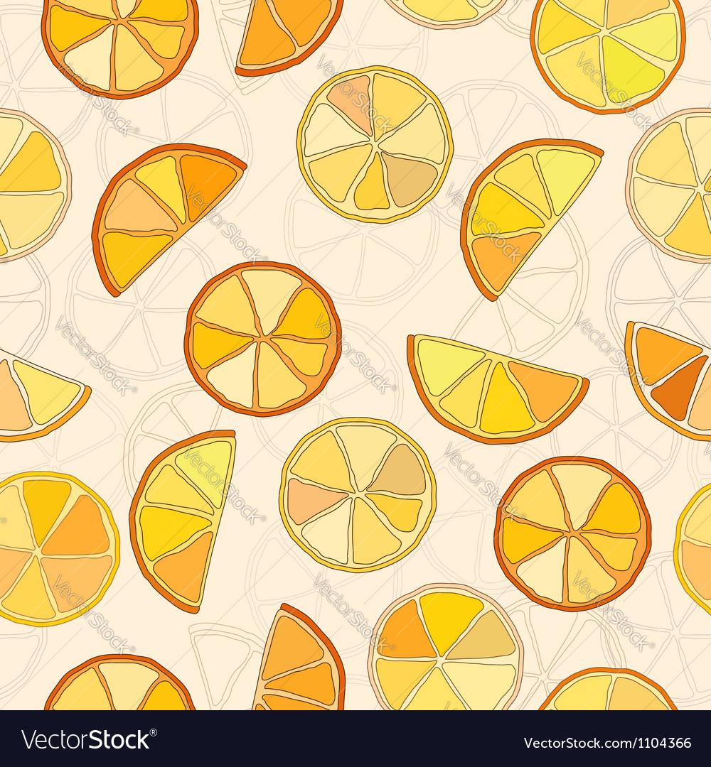 Oranges seamless pattern vector | Price: 1 Credit (USD $1)