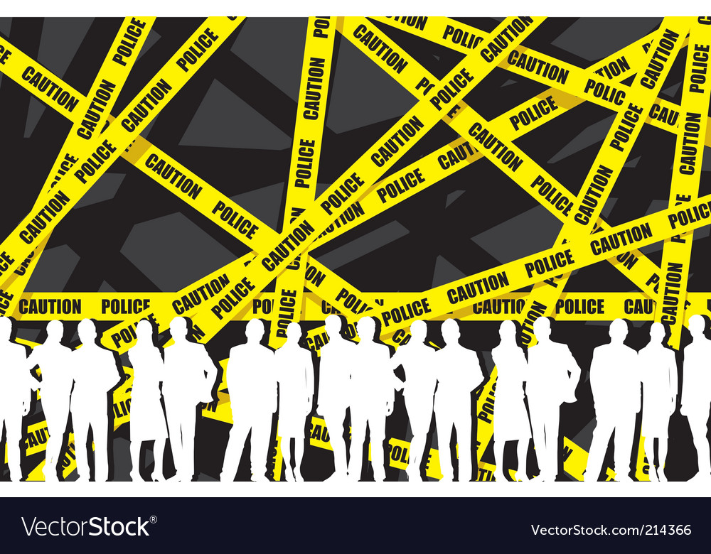 Police caution tape vector | Price: 1 Credit (USD $1)
