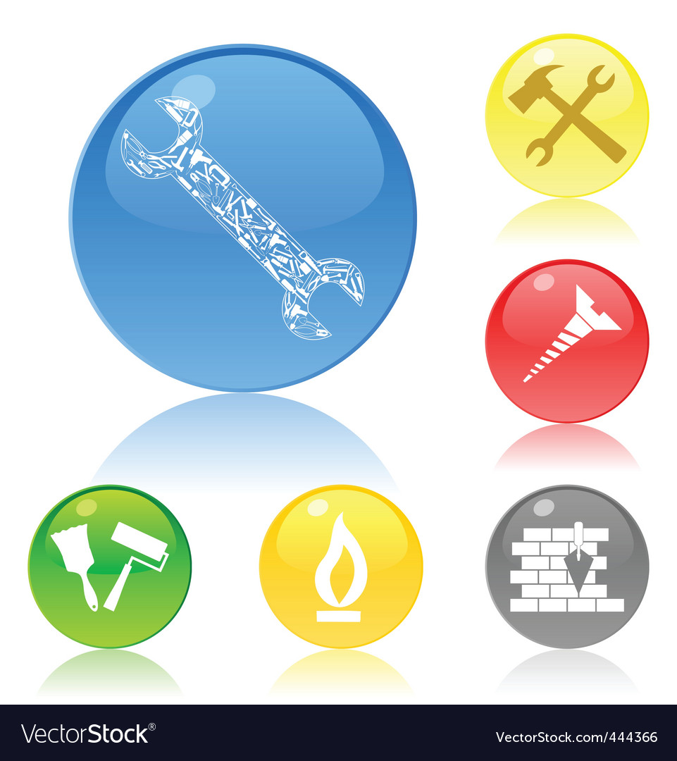 Tool icon buttons vector | Price: 1 Credit (USD $1)