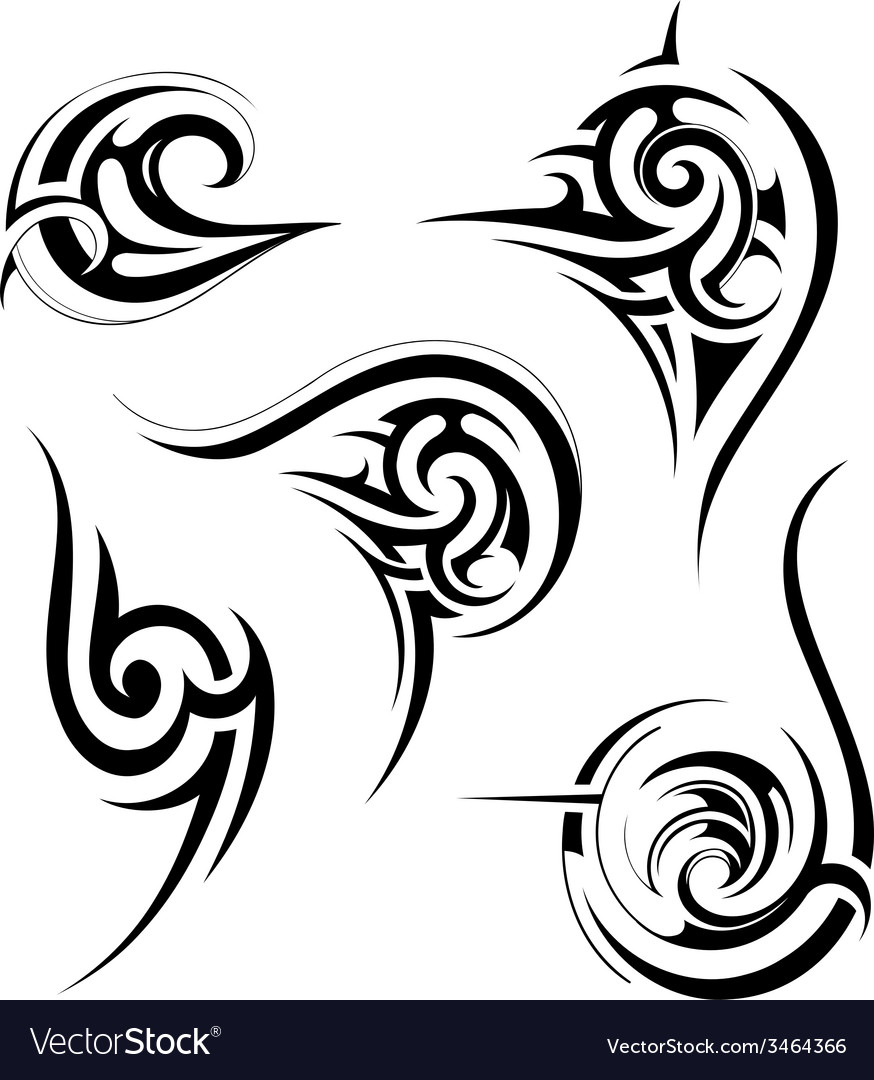 Tribal art set vector | Price: 1 Credit (USD $1)