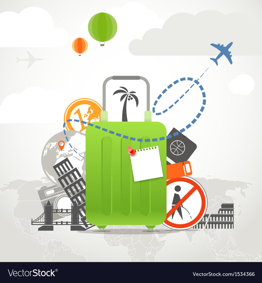 Vacation travelling vector | Price: 1 Credit (USD $1)
