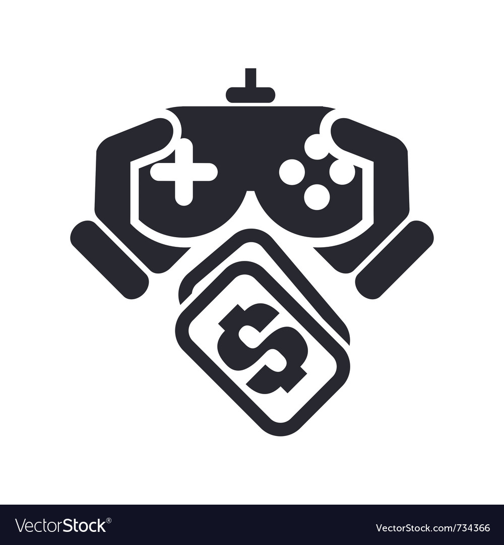 Videogame price icon vector