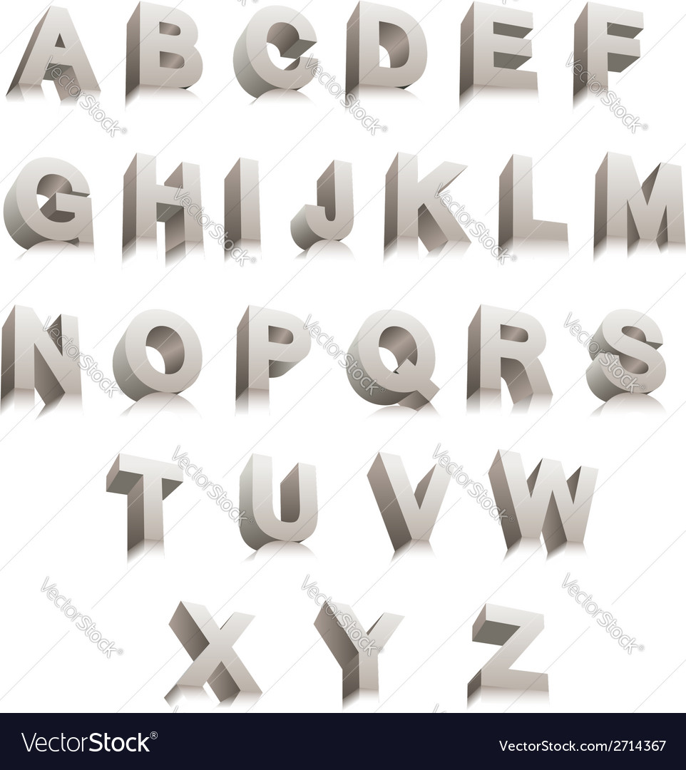 3d letters vector | Price: 1 Credit (USD $1)