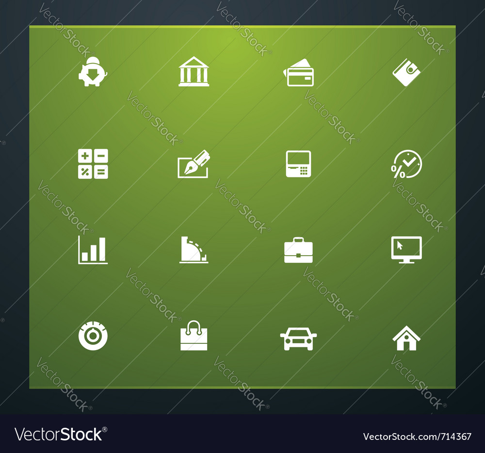 Bank related pictograms vector | Price: 1 Credit (USD $1)