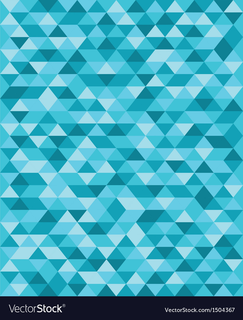 Blue triangle pattern background vector | Price: 1 Credit (USD $1)