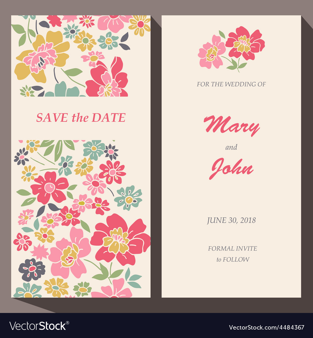 Card template for save the date baby vector | Price: 1 Credit (USD $1)