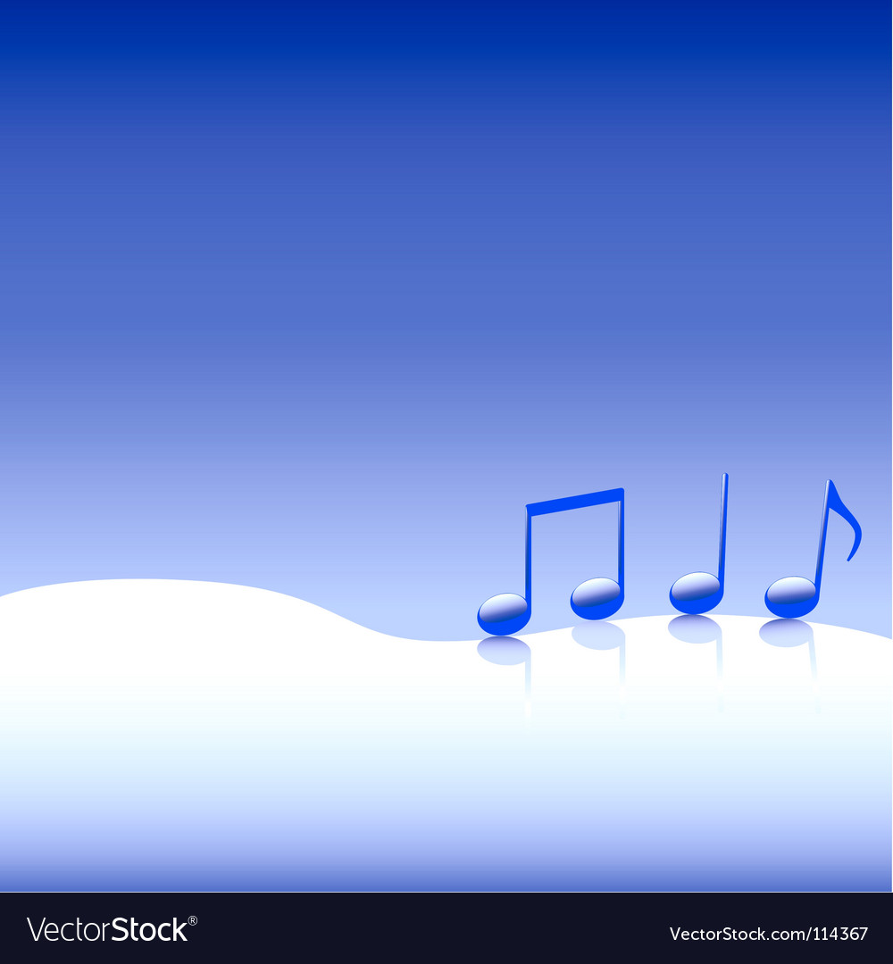 Christmas carol music on snow vector | Price: 1 Credit (USD $1)