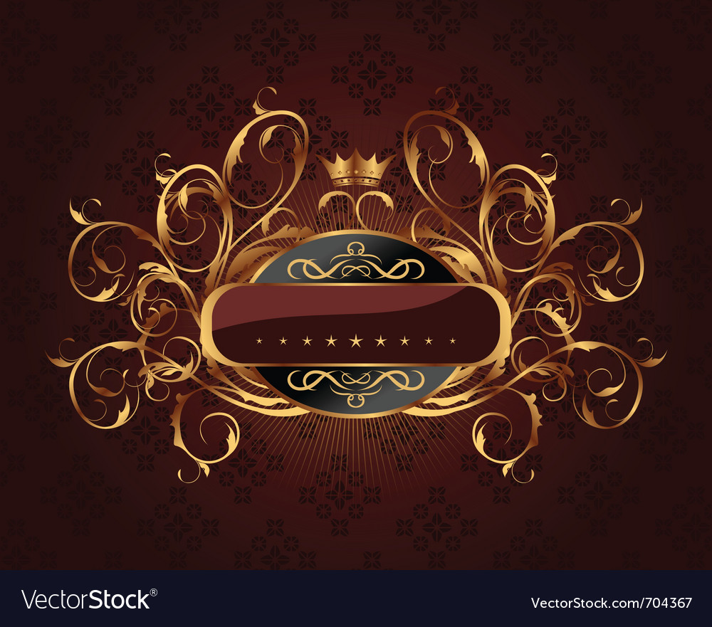 Gold vintage vector | Price: 1 Credit (USD $1)
