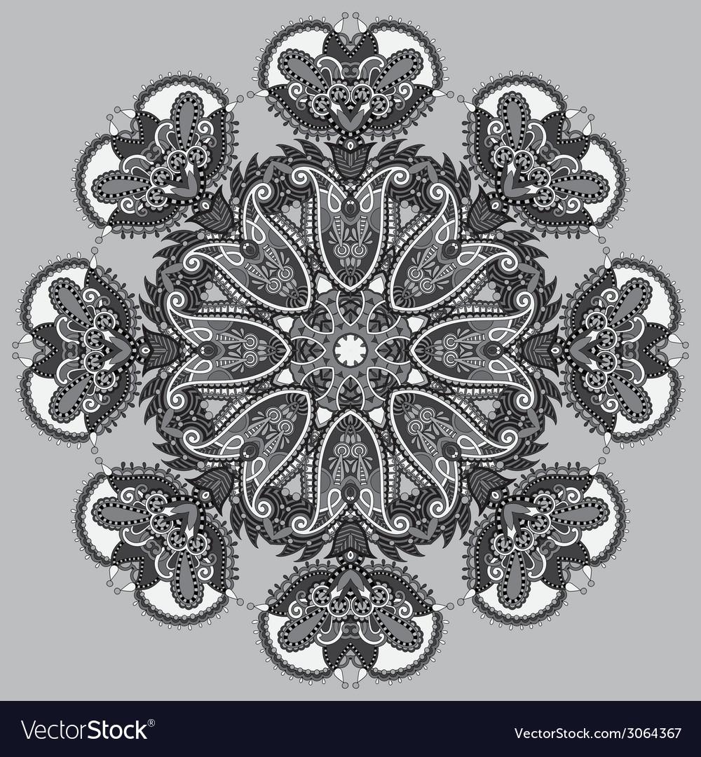 Grey circular decorative geometric pattern for vector | Price: 1 Credit (USD $1)