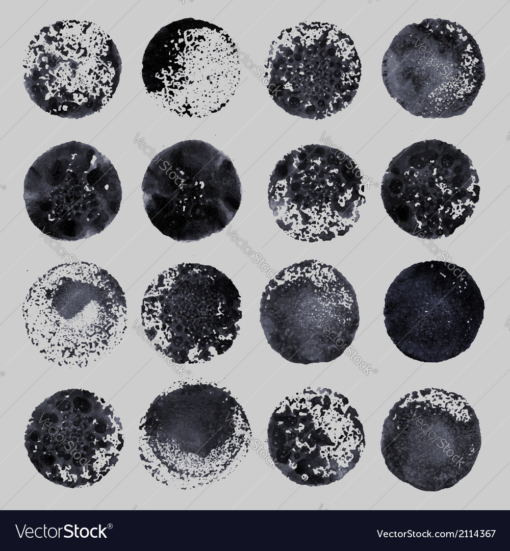 Hand drawn paint stains grunge set vector | Price: 1 Credit (USD $1)