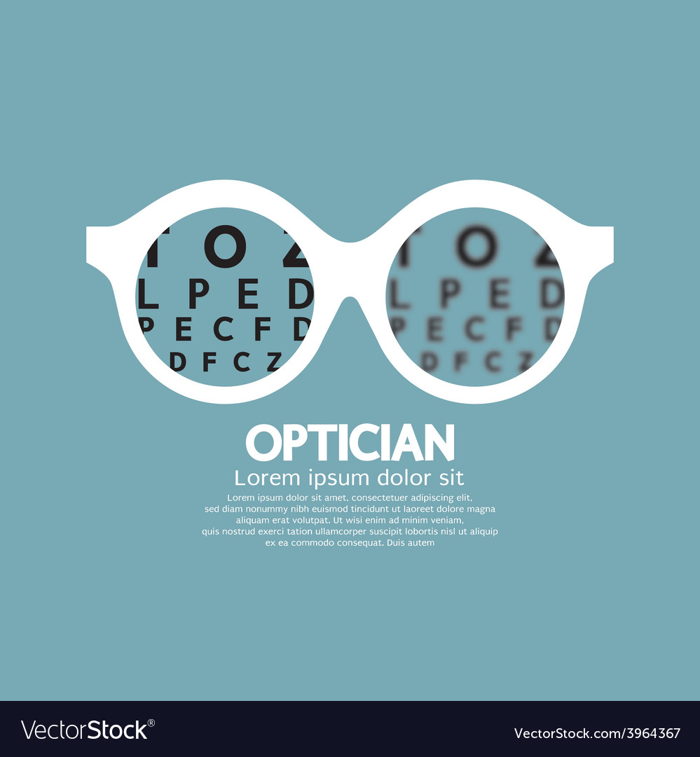 Optician vision of eyesight vector | Price: 1 Credit (USD $1)