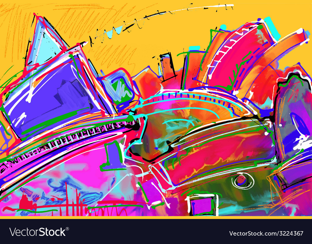 Original of abstract art digital painting vector | Price: 1 Credit (USD $1)