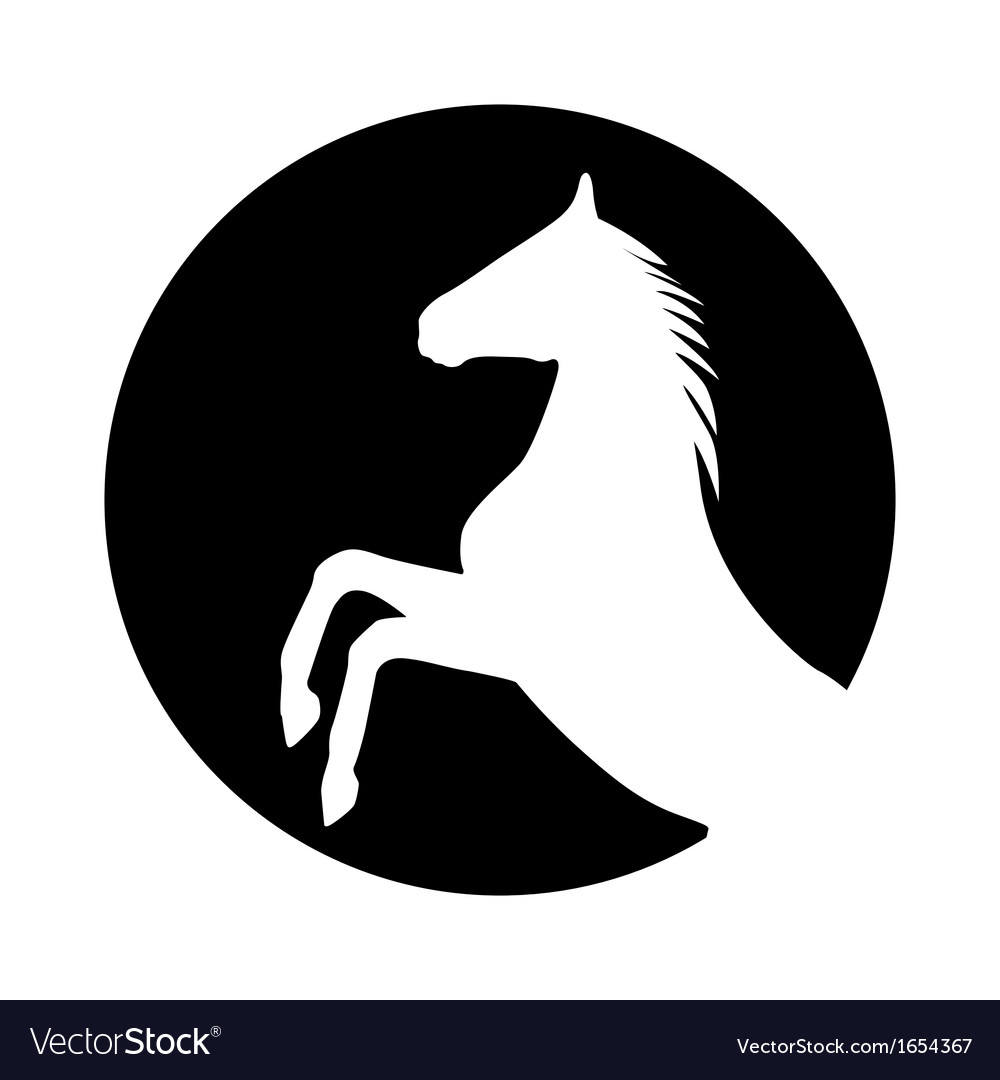 Rearing up horse silhouette vector | Price: 1 Credit (USD $1)