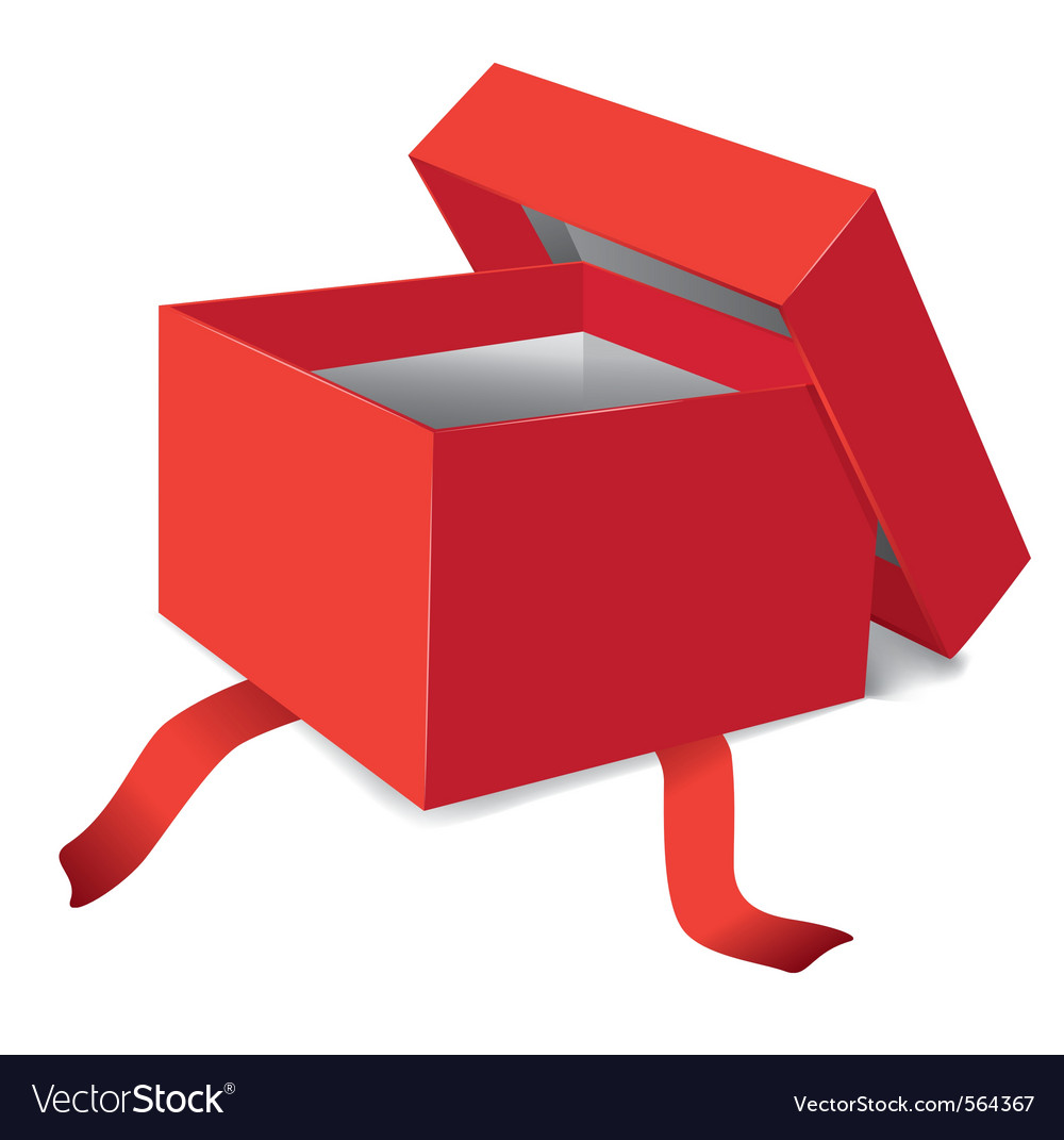 Red opened gift box vector | Price: 1 Credit (USD $1)
