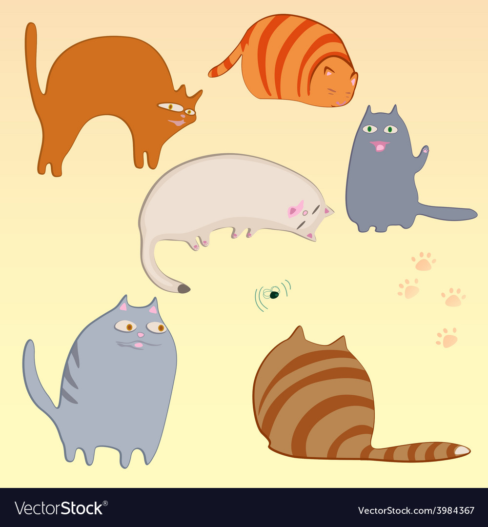 Simple cats set vector   Price: 1 Credit (USD $1)