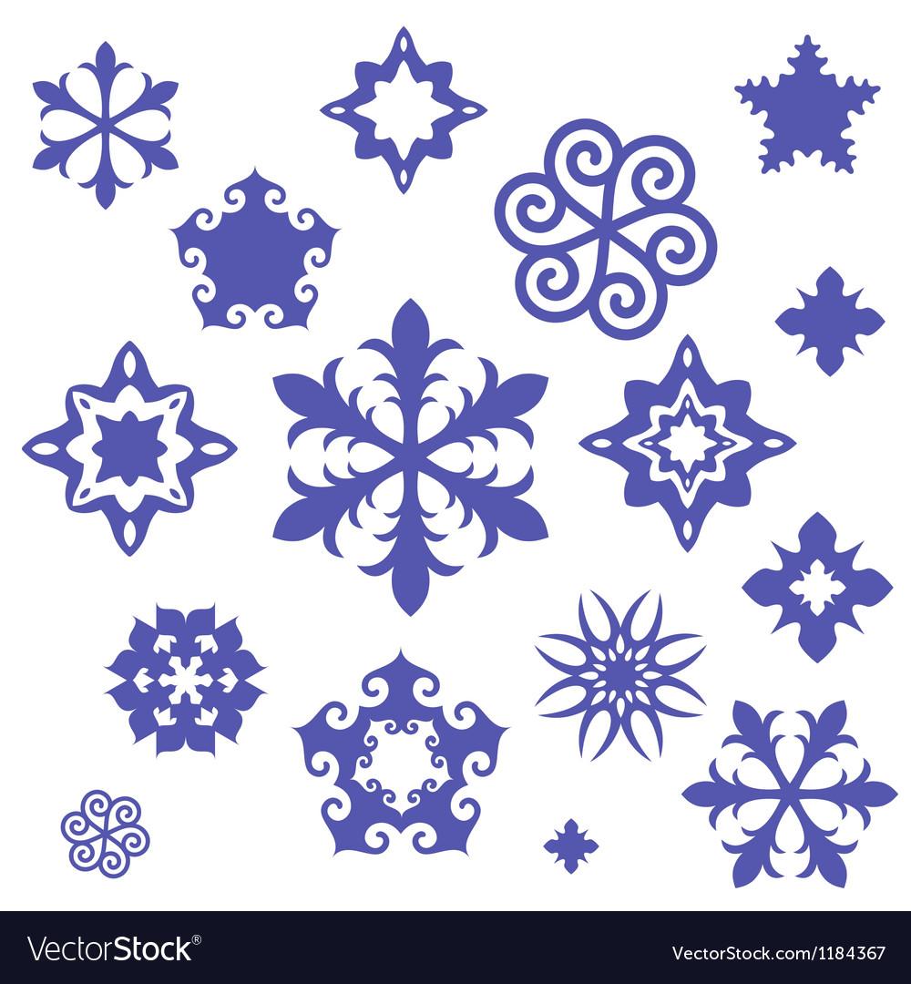 Unusual snowflake vector | Price: 1 Credit (USD $1)