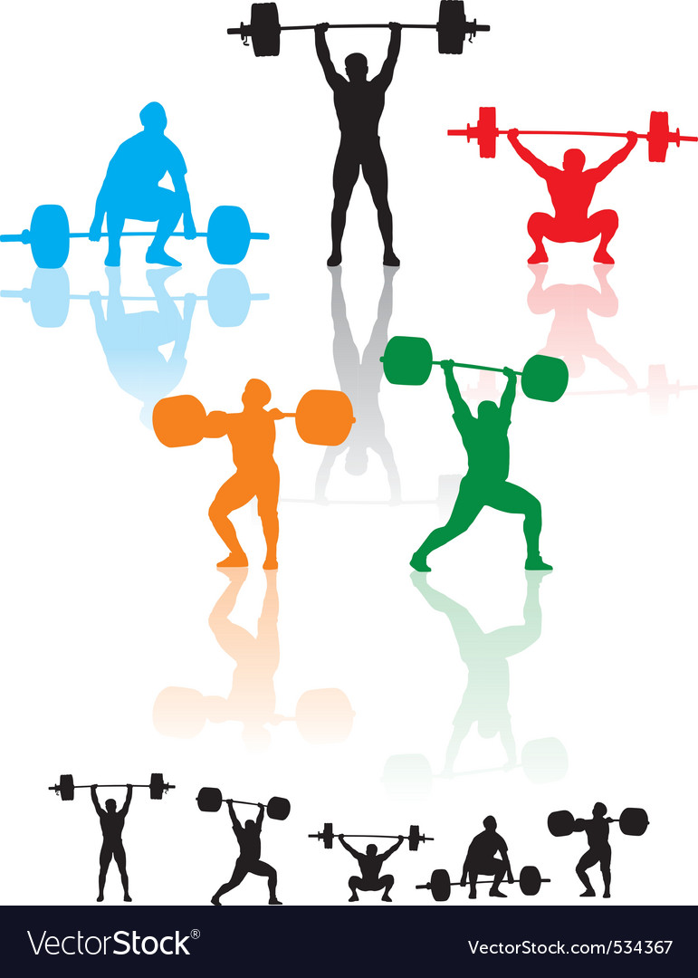 Weightlifters vector | Price: 1 Credit (USD $1)