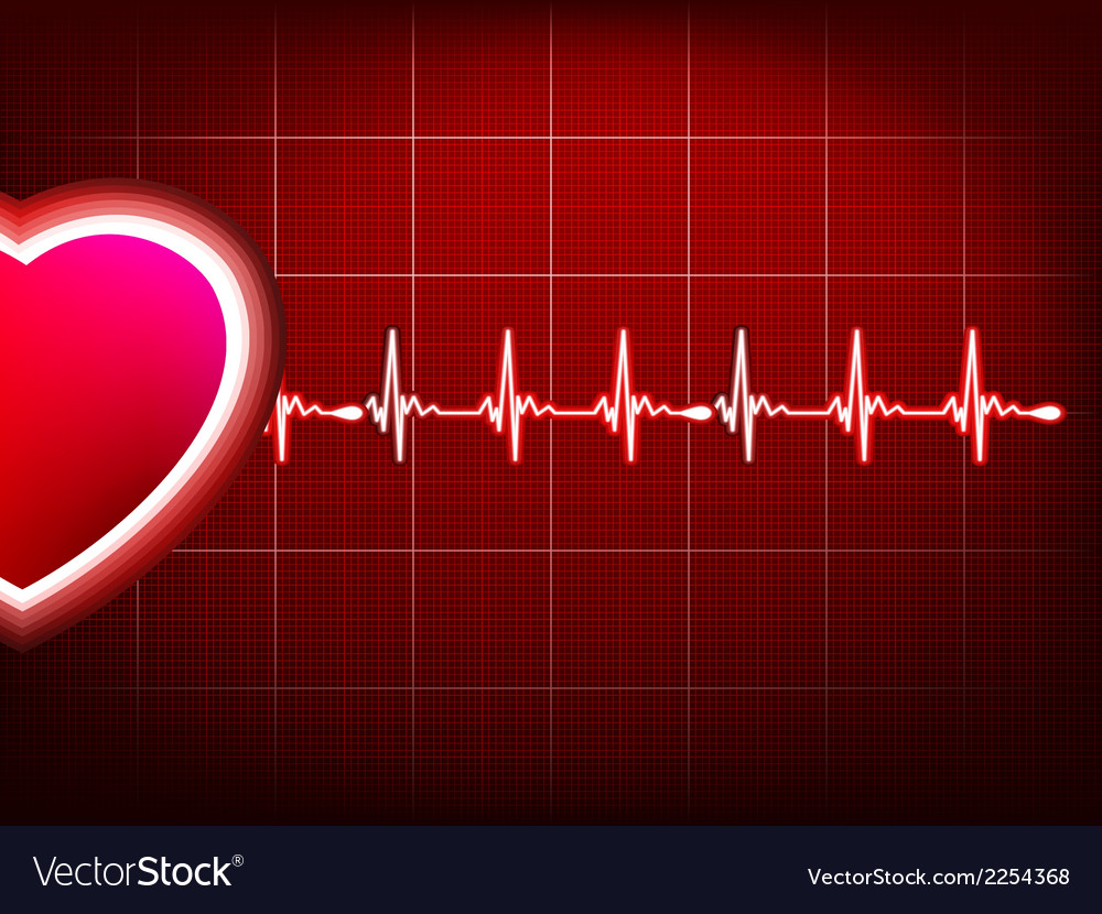 Abstract heart beats cardiogram eps 10 vector | Price: 1 Credit (USD $1)