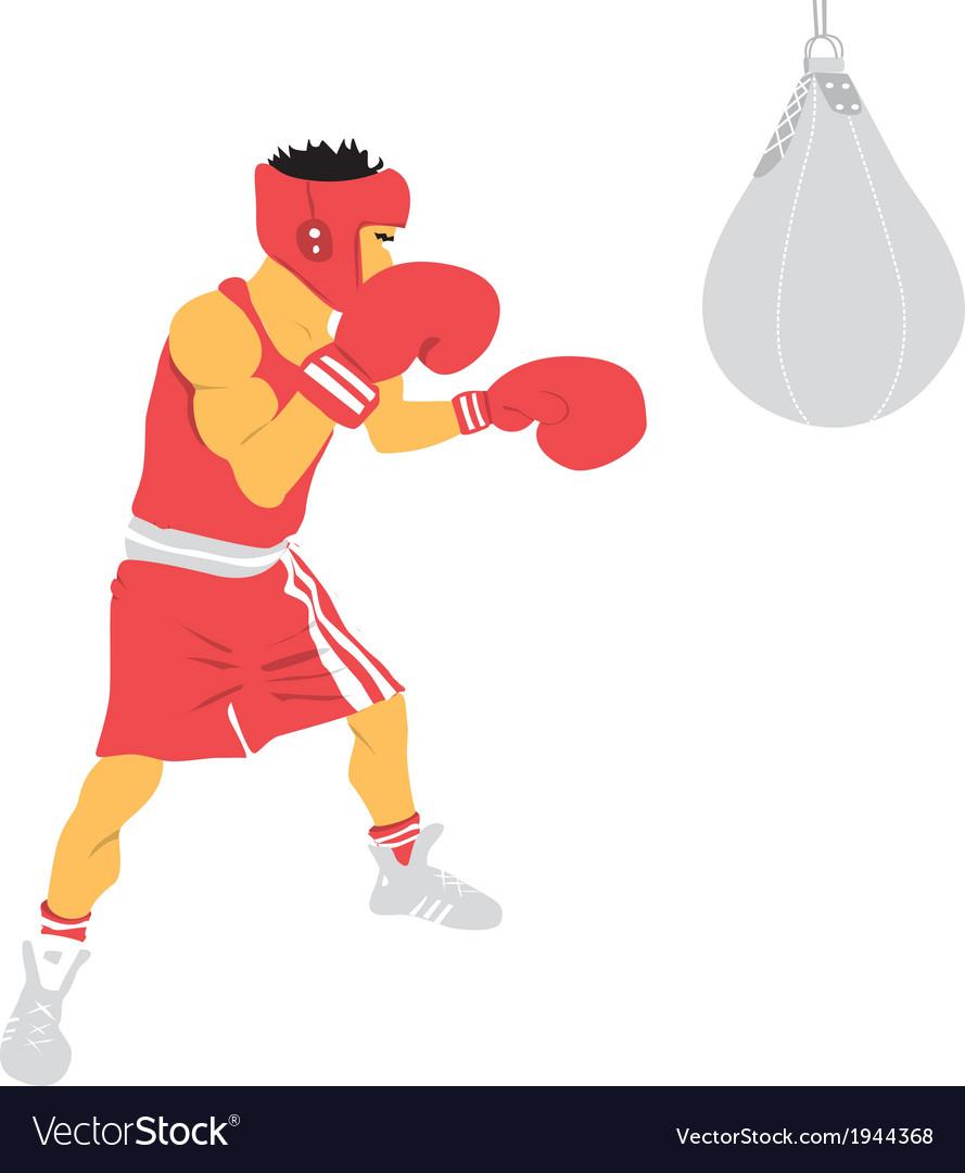 Boxing man vector | Price: 1 Credit (USD $1)