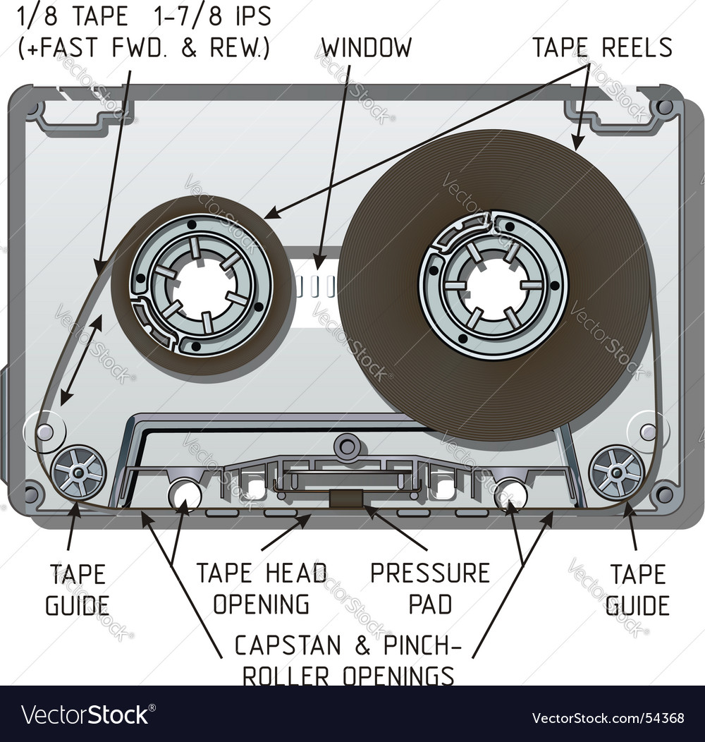 Compact cassette vector | Price: 3 Credit (USD $3)