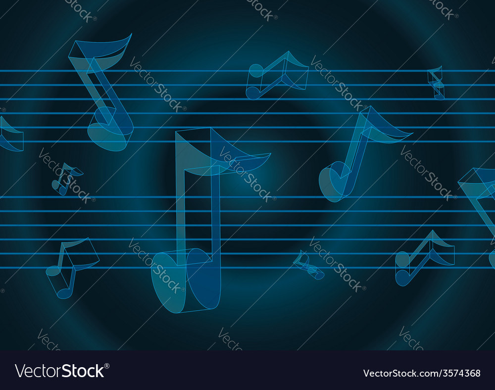 Flying music notes vector | Price: 1 Credit (USD $1)