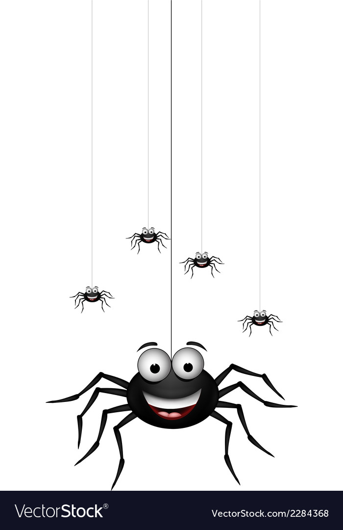 Funny family of spider cartoon for you design vector | Price: 1 Credit (USD $1)