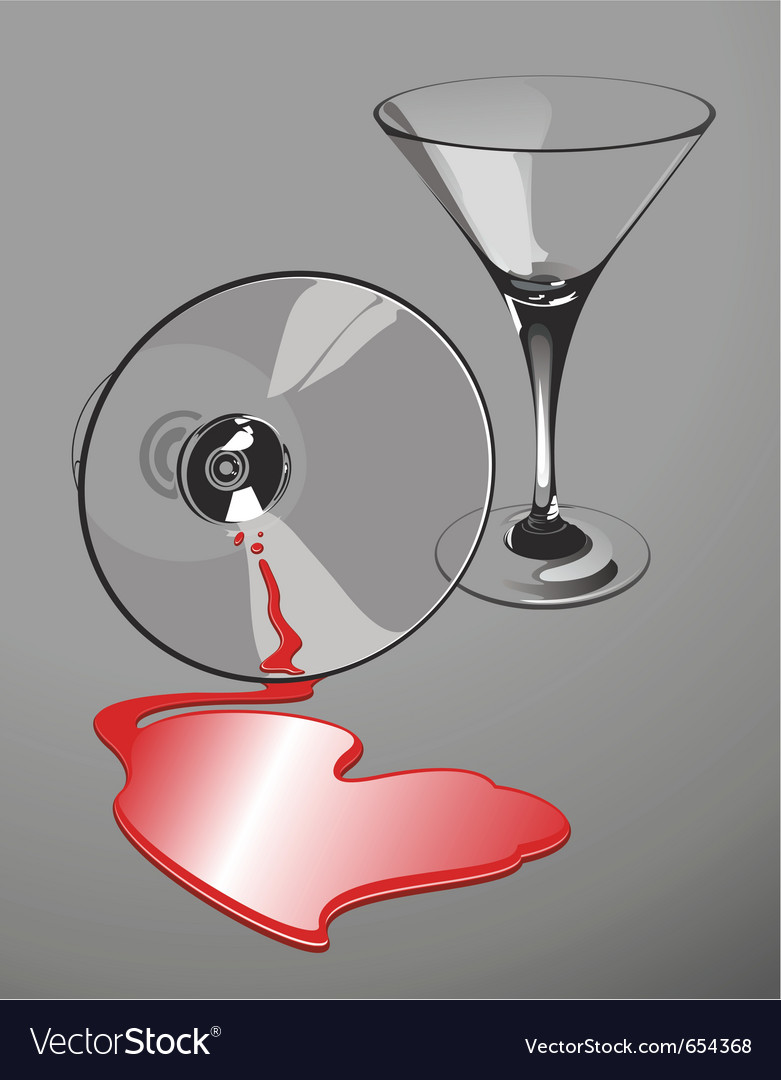 Heart-shaped wine spill vector | Price: 1 Credit (USD $1)
