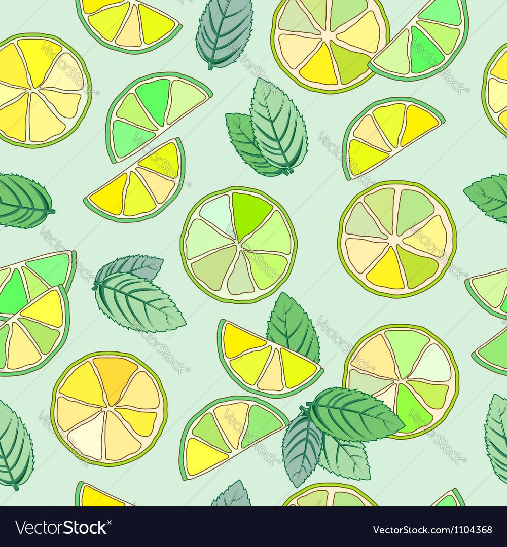 Mojito seamless pattern vector | Price: 1 Credit (USD $1)