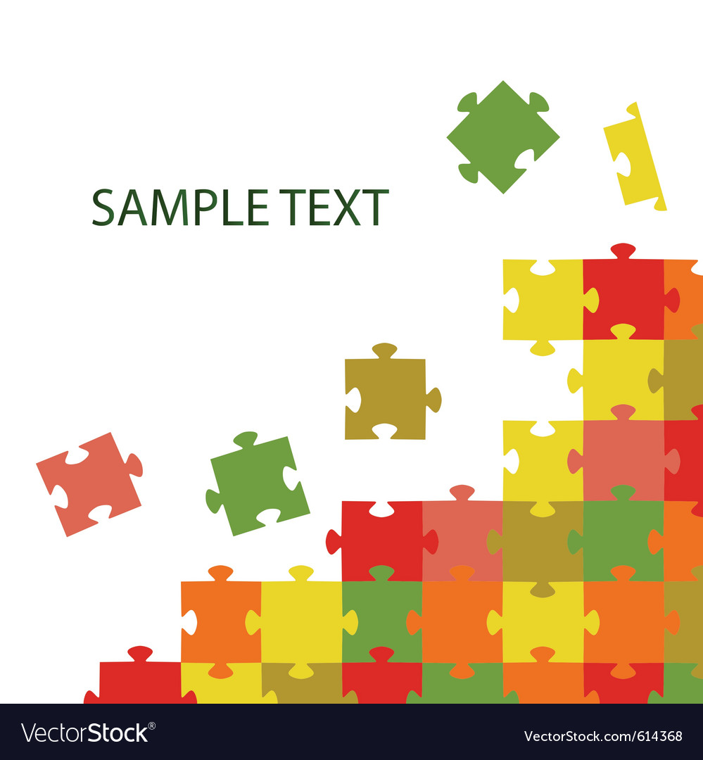 Multi-coloured puzzles vector | Price: 1 Credit (USD $1)