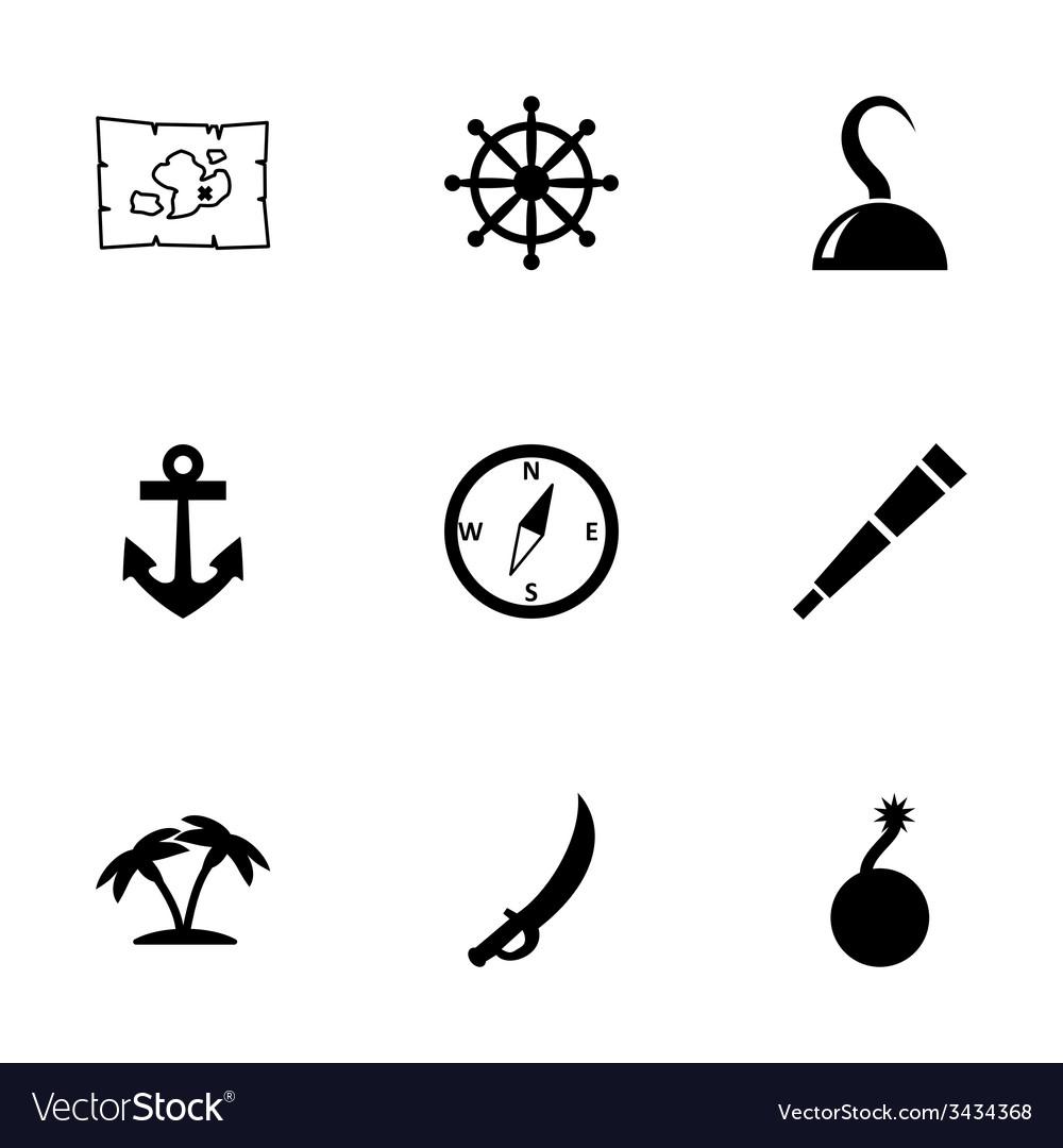 Pirate icon set vector   Price: 1 Credit (USD $1)