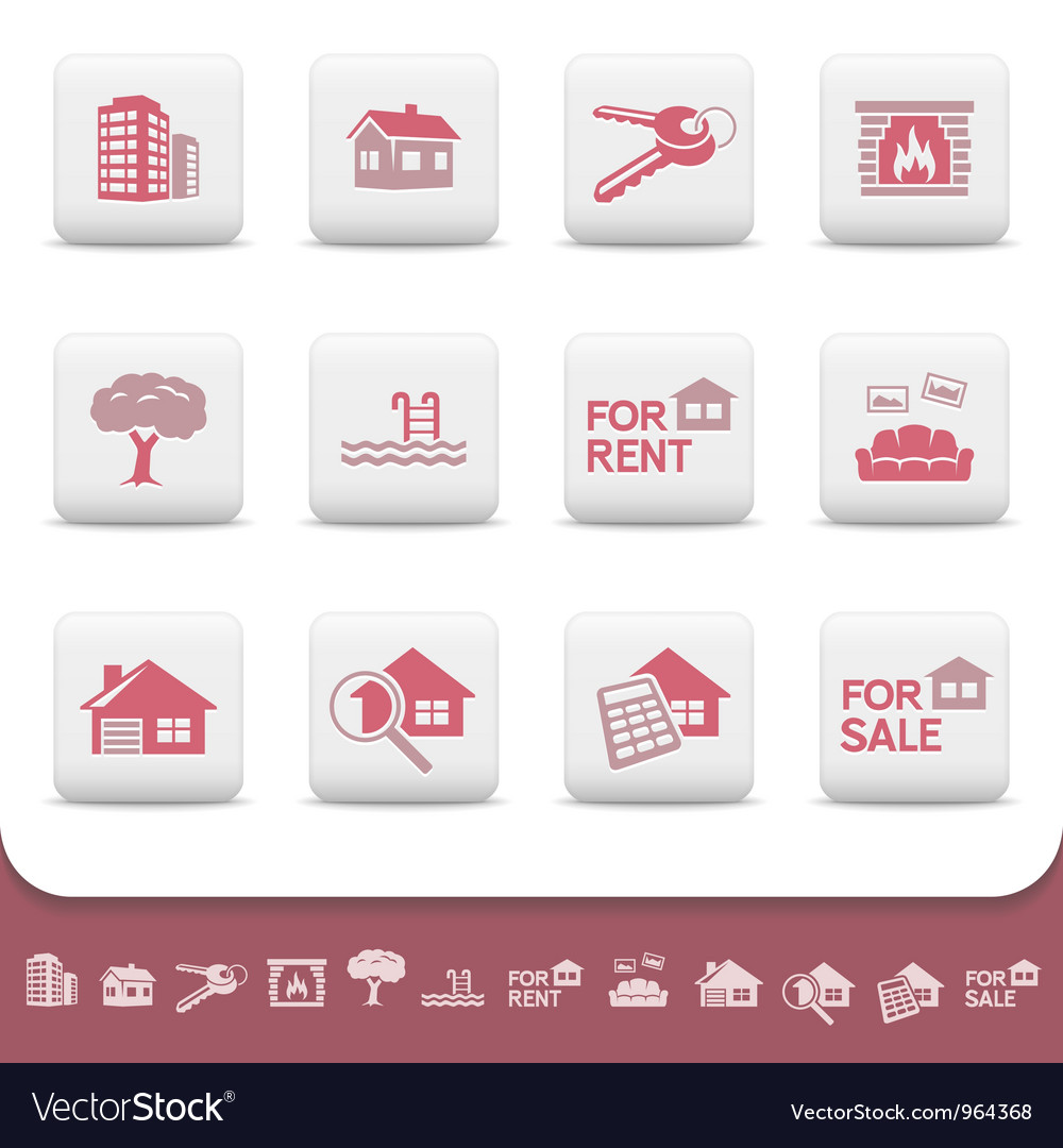 Professional real estate icons vector | Price: 1 Credit (USD $1)
