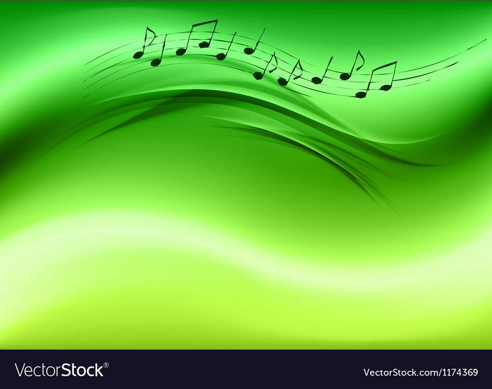 Abstract music green vector | Price: 1 Credit (USD $1)