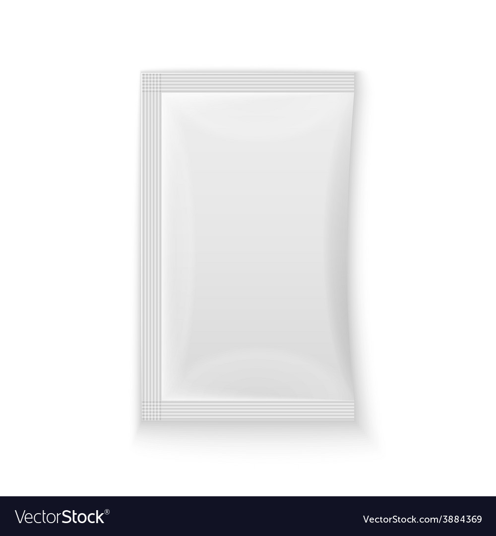 Blank white plastic sachet vector | Price: 1 Credit (USD $1)