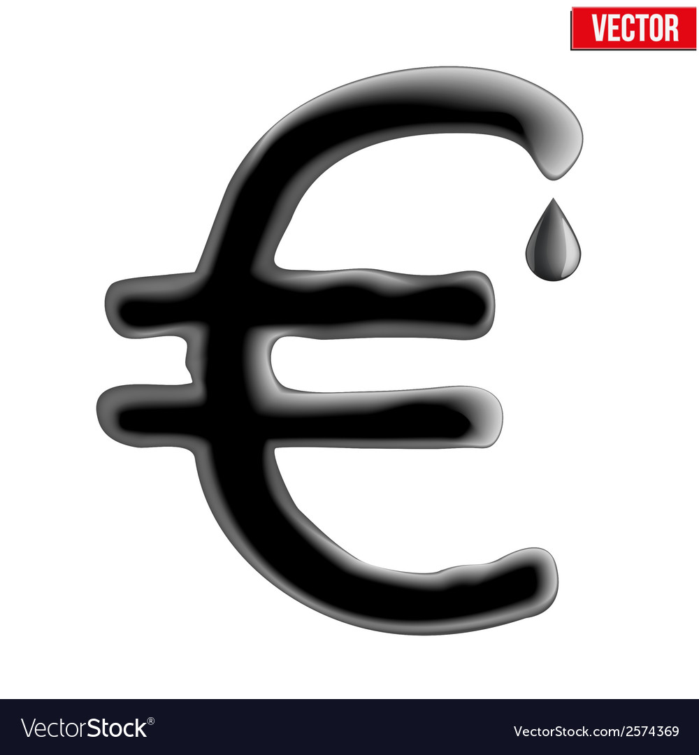 Currency euro in oil texture vector | Price: 1 Credit (USD $1)