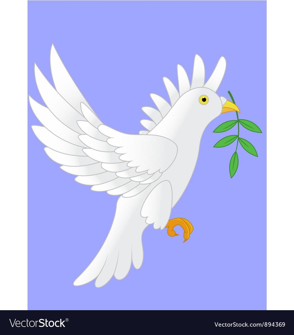 Dove flying cartoon vector | Price: 3 Credit (USD $3)